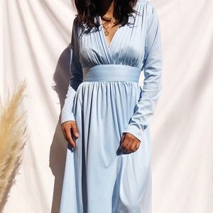 Cinderella like vintage plunge dress